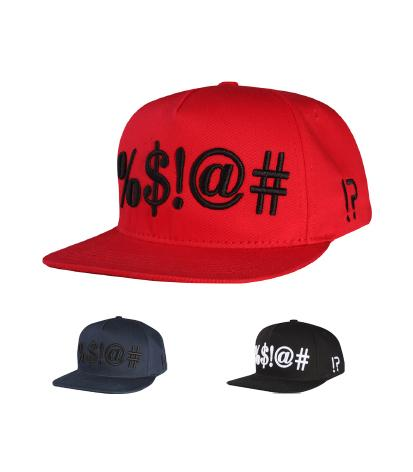 N21NON01- 5 Panel Structured Cotton %$@# Logo Designed Snapback