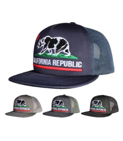N41CRE01-Structured Mesh Back California Republic Junior Snapback