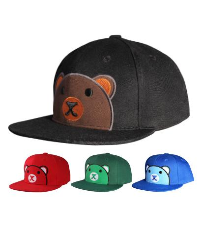 N54BEA01- Structured Cotton Cute Bear Logo Designed Snapback