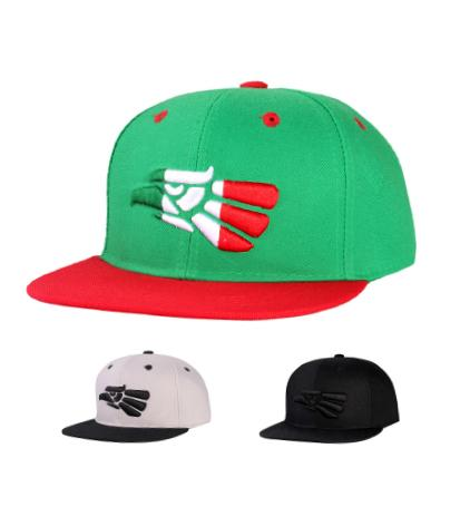 N54MEX02-2T- 2 Tone Structured Polyester Eagle Logo Designed With Back Panel Mexican Flag Snapback