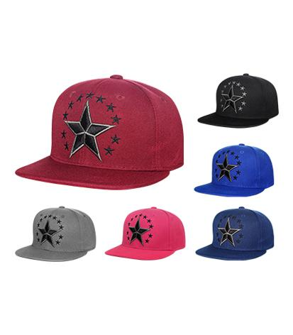 N54STR02- Structured Cotton Nautical Star Logo Snapback