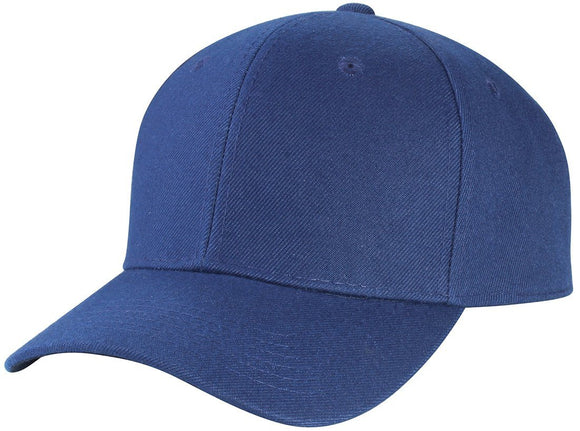 Y4364- 6 Panel Structured 100% Polyester Fitted Baseball Cap (NAV)