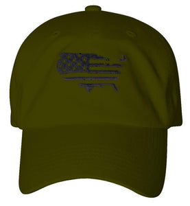 D12USA01- USA Flag Dad Hat
