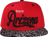 N21ARI51- Structured Cotton Enjoy Arizona Logo Designed Snapback