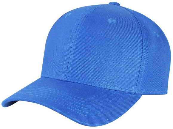 Y4364- 6 Panel Structured 100% Polyester Fitted Baseball Cap (ROY)