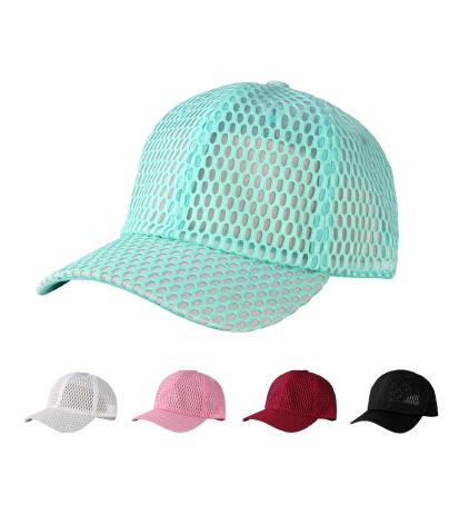 SPC15-06 - 6 Panel Washed Big Hole Mesh Polyester Baseball Dad Cap