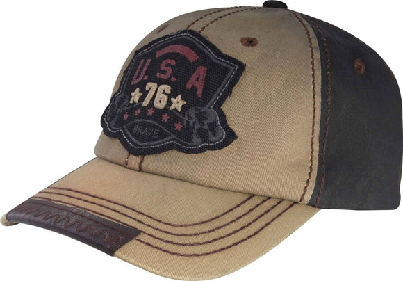 T13USA01- Wholesale USA 76 Star Vintage Washed Cap