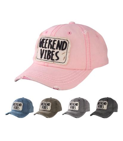 T13WKN01- Wholesale Wash Cap Weekend Vibes Style