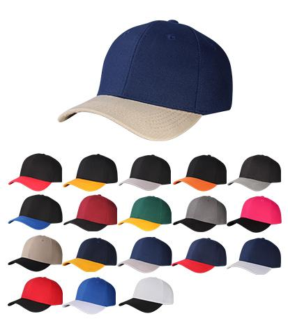 Y4361-2T- 6 Panel Two Tone Polyester Fabric Regular Structured Baseball Cap with Velcro Back