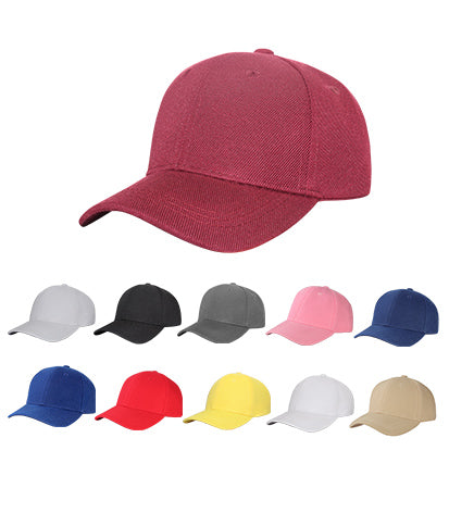 Y4361I - 6 Panel INFANT SIZE Structured Polyester Velcro Back Patch Regular Baseball Plain Cap