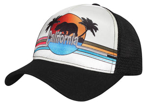C16CAL02-Mesh Back California Bear Baseball Cap