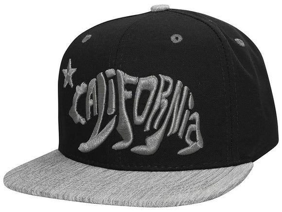 N21CR105- Structured Calligraphic Cali Bear Logo Snapback
