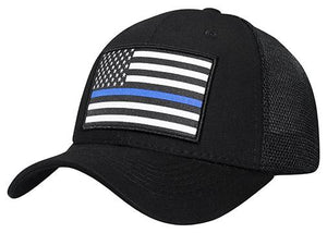 C17USA04-(2) Stripes United States Flag Mesh Back Baseball Caps