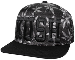 N21MAR16- Structured KUSH Logo with Weed Designed Snapback