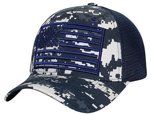 C17USA01-Mesh Back United States Flag Logo Baseball Caps