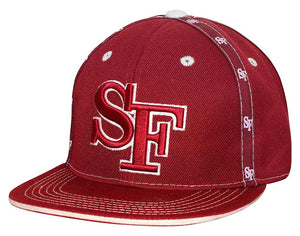 "N10ISF03- Structured Cotton San Francisco Short Name With ""SF"" Logo Designed And Cotton Snapback (BUR/WHT)"