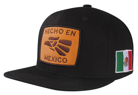 N21MEX11- 2 Tone Structured Cotton Hecho En Mexico Logo Designed Snapback
