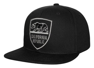 N21CR102- Structured California Republic Badge Logo Snapback