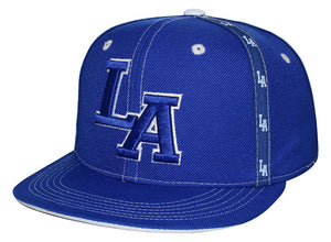 "N10ILA03- Structured Cotton Los Angeles Short Name With ""LA"" Logo Designed Snapback (ROY/WHT)"