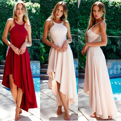 Sleeveless Irregular Boho Long Maxi Dress