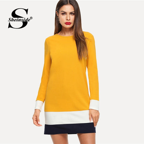 Ginger Color Block Tunic Dress