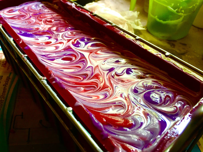 Soap Spotlight: Making Color Come Alive in Huckleberry Harvest