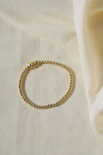 PALACE Bezel Tennis Gold Plated Bracelet