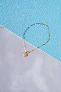 PIPPA Seashell Pearl Charm Bracelet Gold Filled