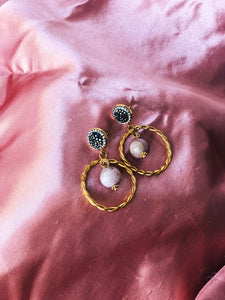 SOPHIE Opal Hoop Earrings