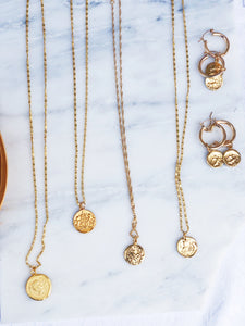 MARCO Gold Plated Coin Necklace