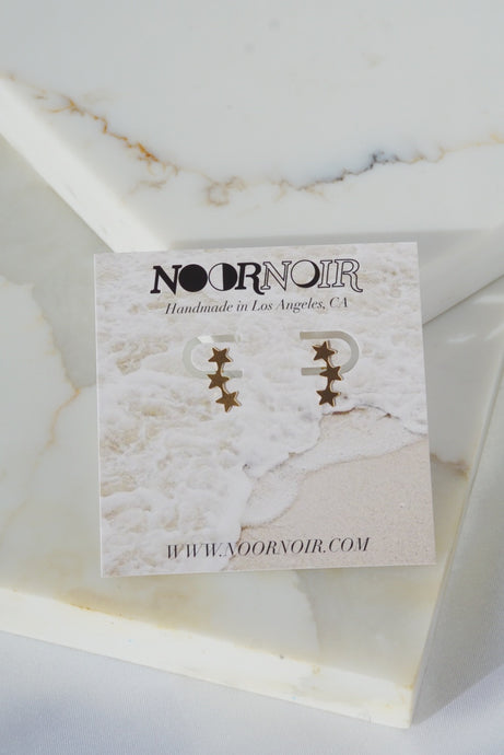 NOVA Star Climber Gold Filled Stud Earrings