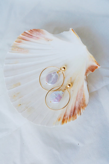 LAGUNA Keshi Pearl Gold Filled Earrings