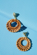 CABANA Hammered Gold & Rattan Oval Earring