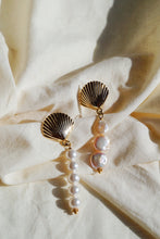 CORONADO Asymmetrical Seashell Pearl Earrings