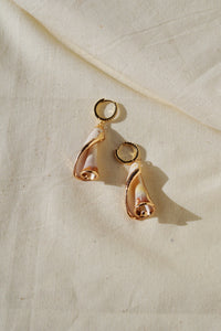 MAREA Spiral Seashell Statement Earrings