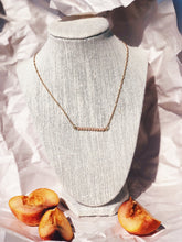 SEFTALI Peach Moonstone Bar Necklace