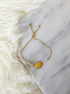 JOIE Crystal Slider Bracelet Yellow
