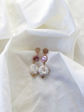 GEMA Freshwater Pearl Statement Earrings