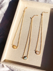 JOIE Crystal Charm Necklace