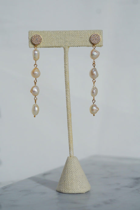 ADELLA Pearl Drop Earrings White