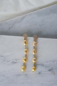 ADELLA Pearl Drop Earrings Lemon