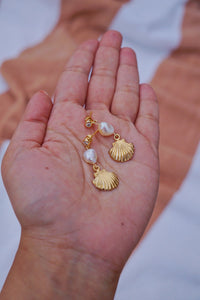 MELODY Pearl Seashell Earring Gold
