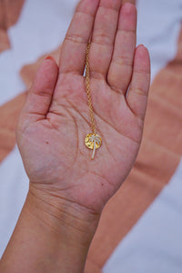 ISLA Palm Tree Charm Gold Filled Necklace