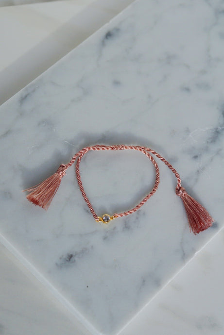 AYLA Crystal Thread Slider Bracelet