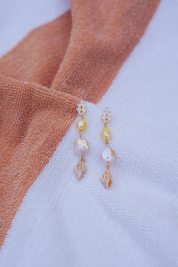 TRITON Seashell Charm Drop Earring