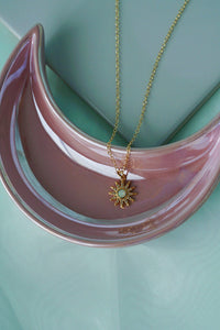 AERIN Opal Sun Charm Gold Pendant Necklace