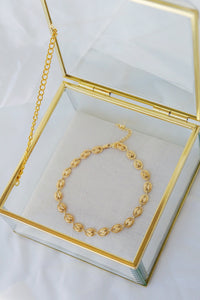JASMINE Gold Plated Shell Anklet