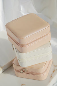 Travel Jewelry Box White
