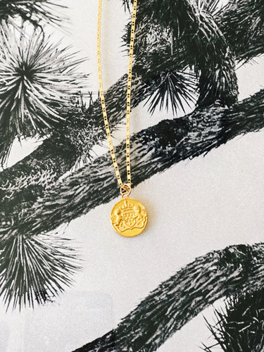 JULIUS Gold Plated Coin Necklace
