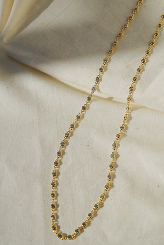 CHIARA Long Crystal Chain Necklace 22